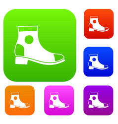 Men boot set collection vector