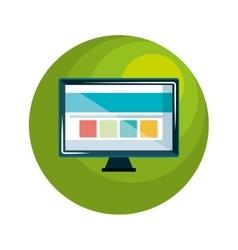 monitor computer display icon vector image