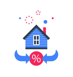 Mortgage loan interest rate buy house vector