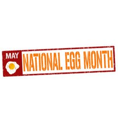 national egg month grunge rubber stamp vector image