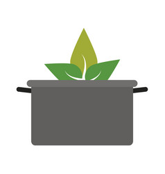 Pot cooking vegetables icon image vector