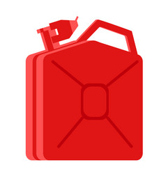 red jerrycan flat vector image