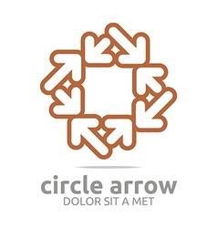 rhombus arrow colorful design symbol icon vector image