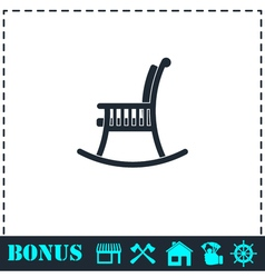 Rocking chair icon flat vector