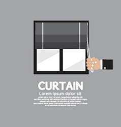 Roman Curtain On Window vector image