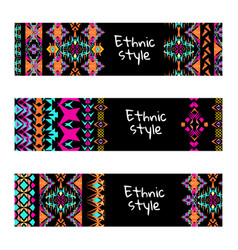 Set of colorful horisontal banners vector