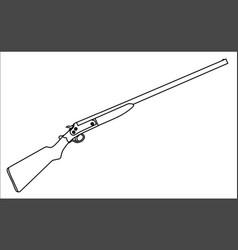 shotgun outline vector image