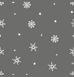 simple grey festive seamless pattern with hand vector image