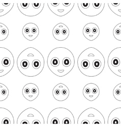 smiley seamless vector image