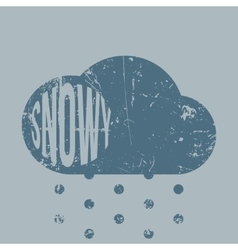 Snowy vintage scratched weather icon vector