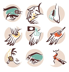 Spa and beauty icons vector