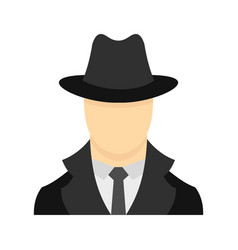 spy icon flat style vector image