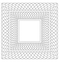 Square shaped guilloche pattern vector