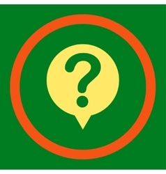 Status flat orange and yellow colors rounded vector