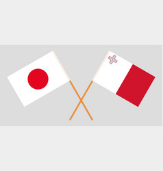 The maltese and japanese flags vector