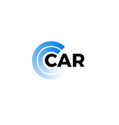 Tire marks car service company logo steering vector