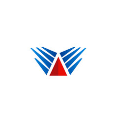 Triangle wing abstract company logo vector