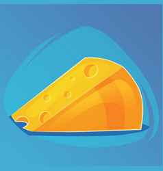 triangular piece of cheese cheese game icon vector image
