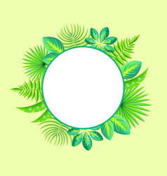 tropical banner spare place for text round frame vector image