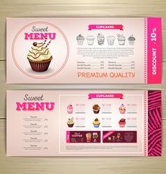 Vintage dessert menu desig vector