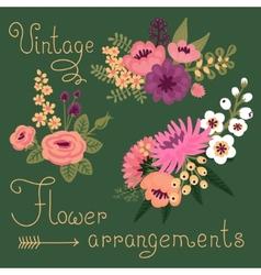 Vintage flowers Cute flower for design vector image