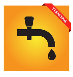 Water tap icon for web and mobile vector
