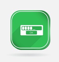 web-interface Color square icon vector image