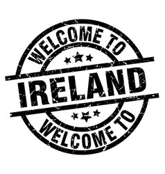 Welcome to ireland black stamp vector
