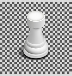 White chess piece rook isometric vector