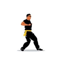 Wing Chun kung fu Man Cartoon vector