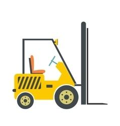 Yellow loader flat vector image