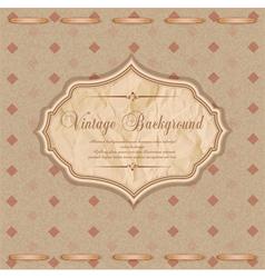 vintage congratulatory background vector image vector image