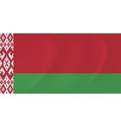 Byelorussia waving flag vector image