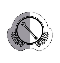 contour symbol wrench icon image vector image