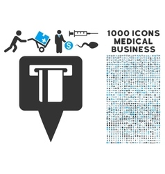 ATM Machine Map Pointer Icon with 1000 Medical vector image