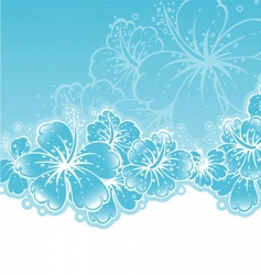 back flowers vector image vector image