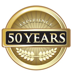 Fifty Years Experience Gold vector image vector image