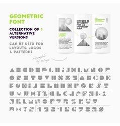 Geometric font collection vector image vector image
