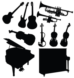 music instrument black vector image
