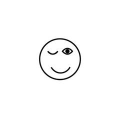 wink emotion icon vector image
