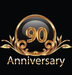 90 anniversary vector image vector image