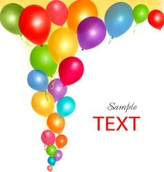 balloons frame vector image vector image