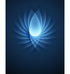 Blue Smooth Lines background vector image vector image