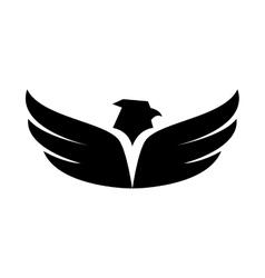 eagle wing open symbol icon graphic vector image