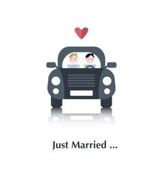 Gay marriage icon vector image vector image