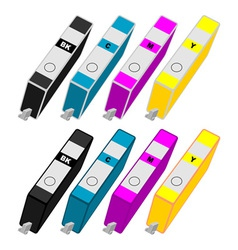 Ink cartridges vector image vector image