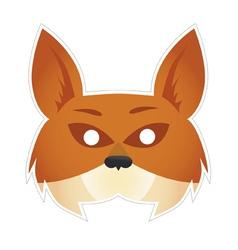 Mask fox vector image