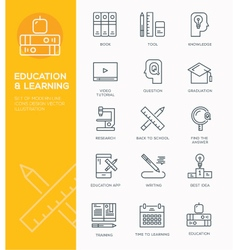 Modern Line icon design Concept of Education vector image vector image