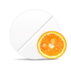 Orange pill iconEnvironment background vector image vector image