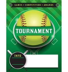 Softball Tournament Template vector image vector image